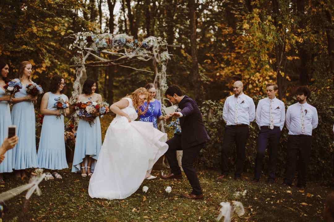 mazel tov wedding woods boho