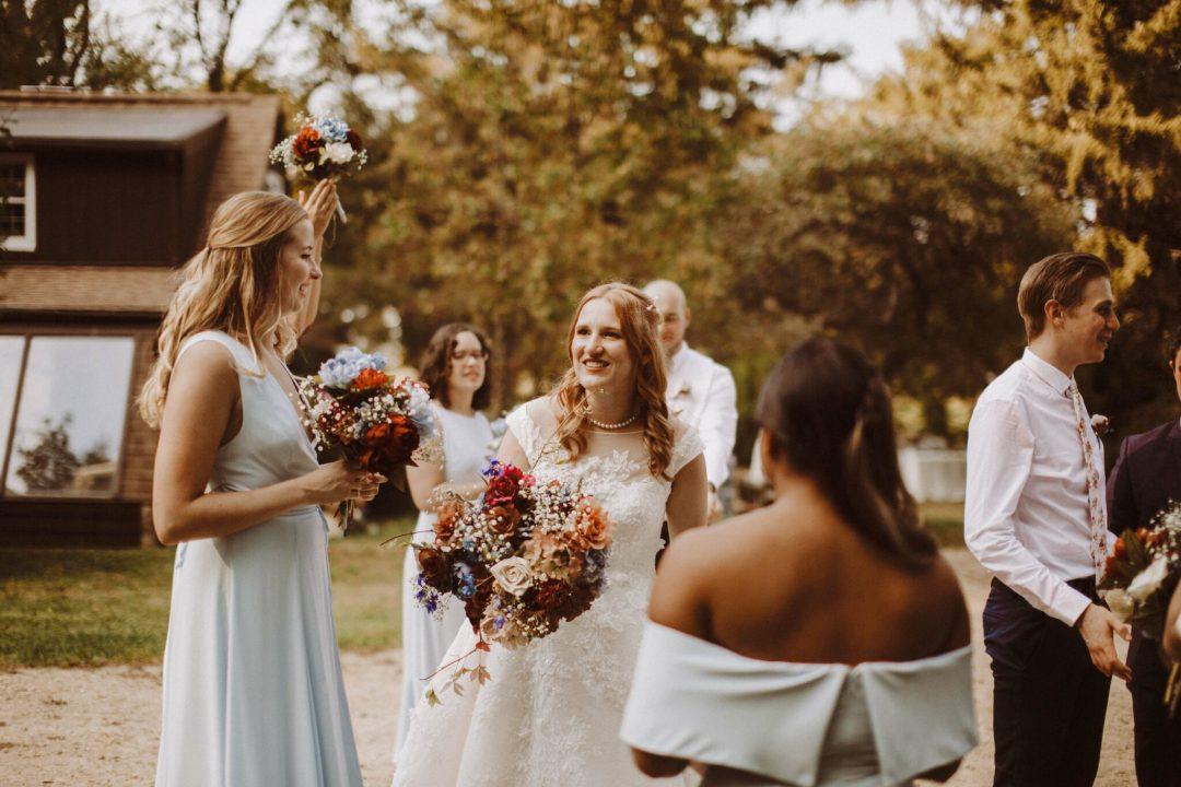 wedding outdoor bridesmaid boho wisconsin