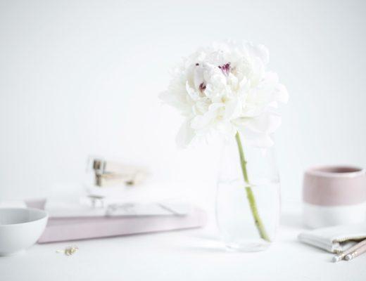 flower pink desk details
