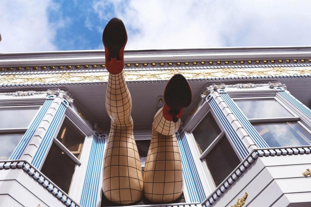 san francisco haight legs window