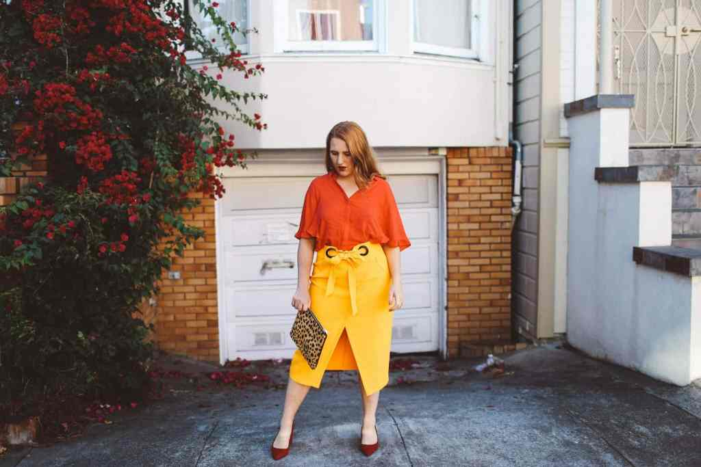 contrast color blocking trend to try