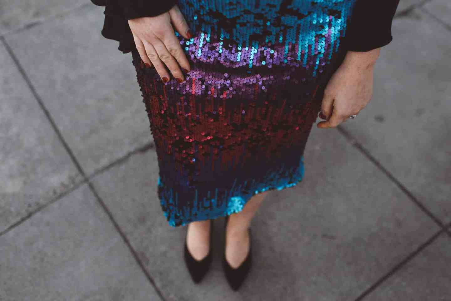 Sequin Skirt Outfit For New Years Eve