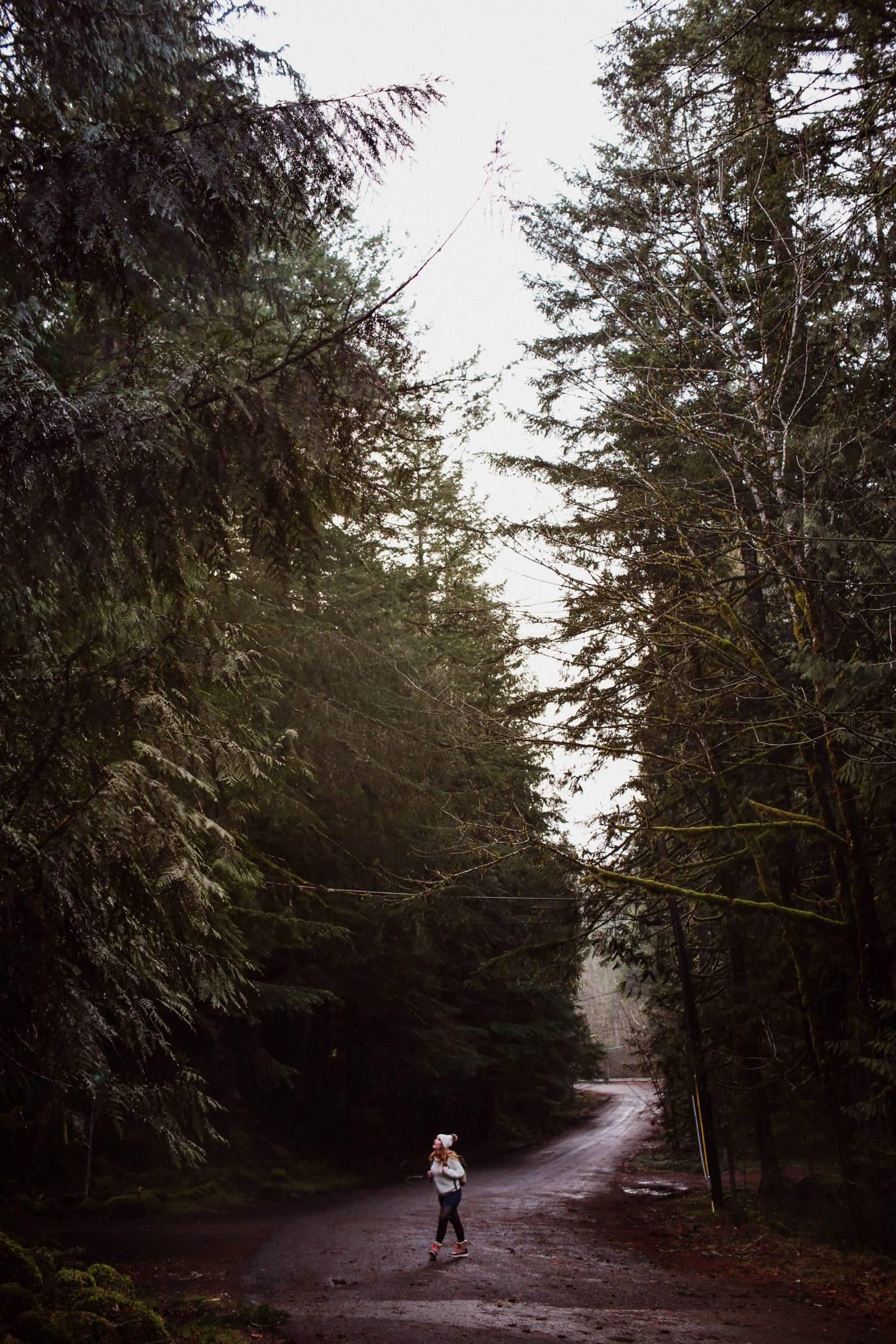 oregon woods woman