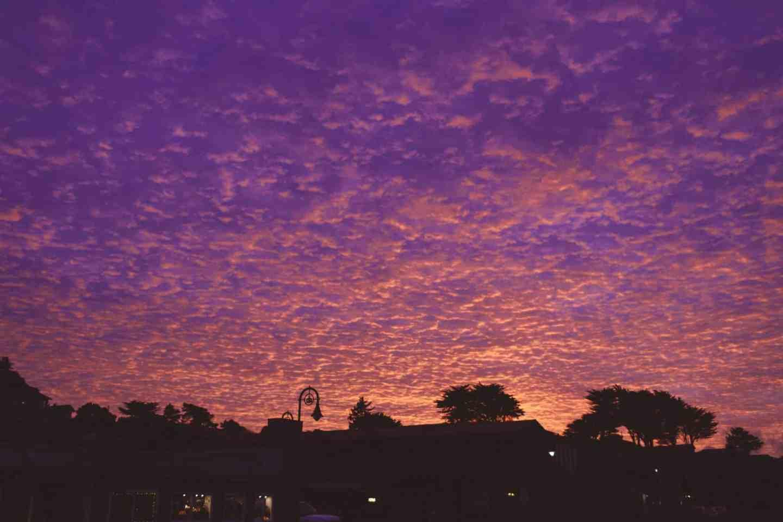 oregon pink sunset