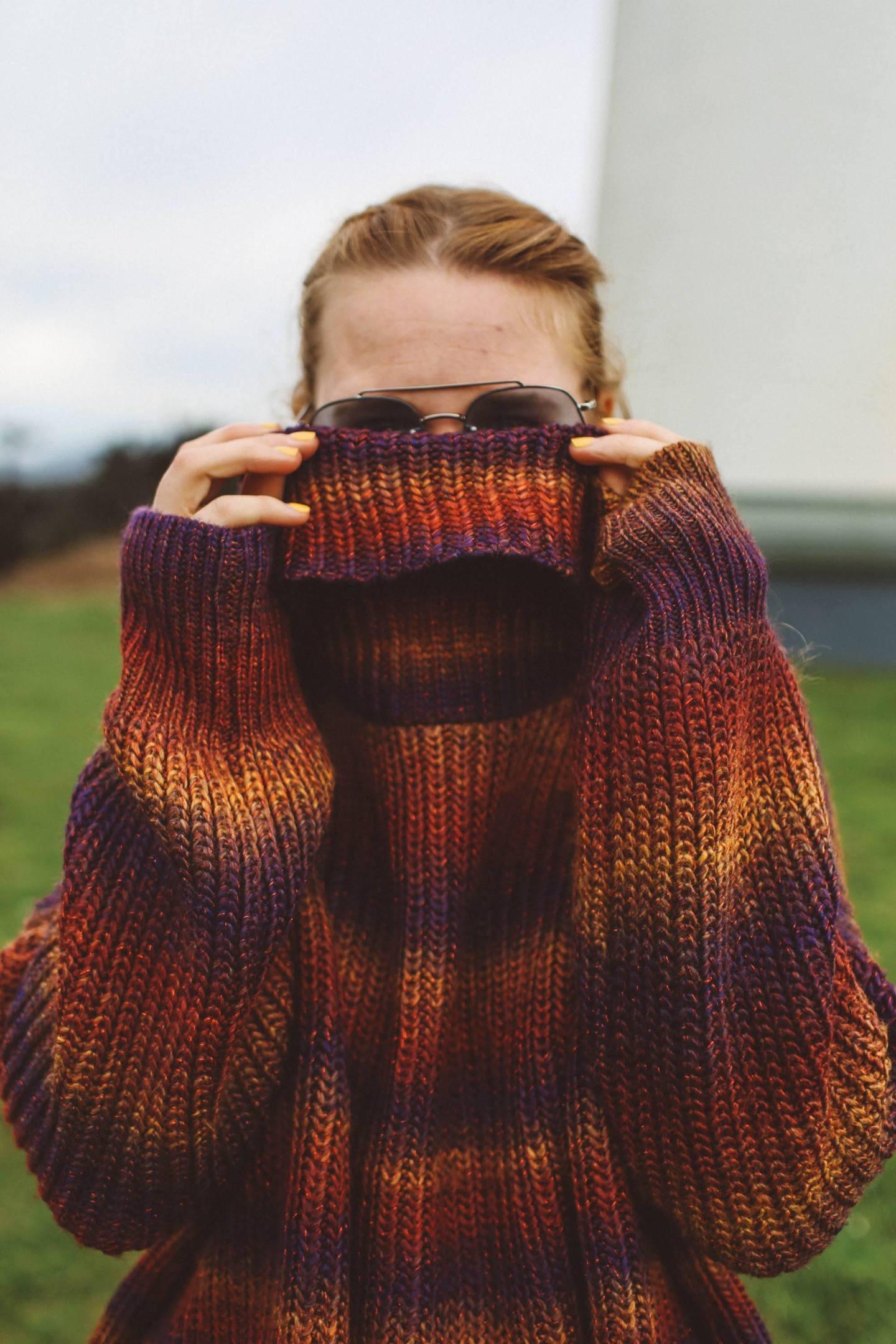 rainbow oversized sweater woman