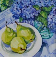 Summer-Pears---Oil-on-Canvass(14x14)