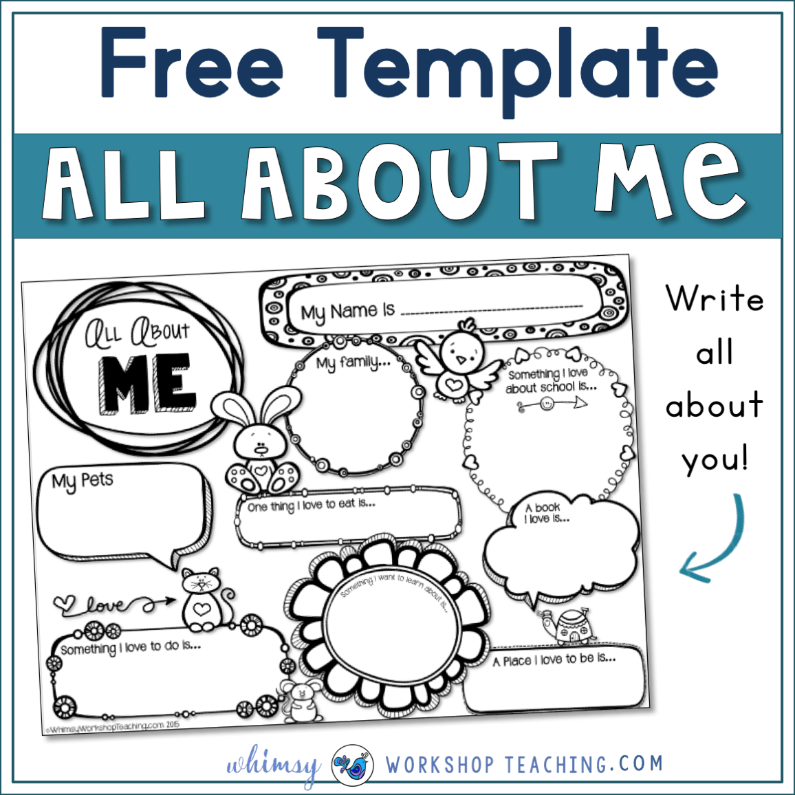 About Me Writing Template