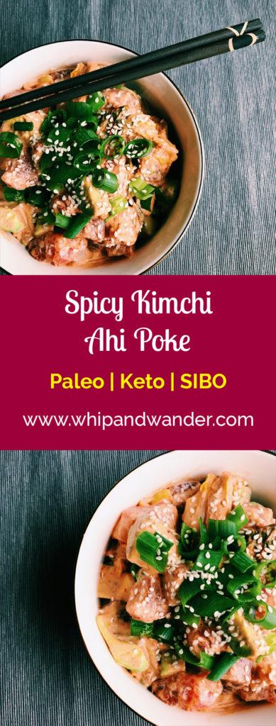 Spicy Kimchi Ahi Poke