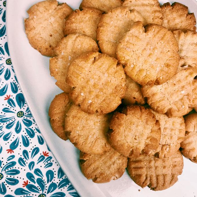 Almond Peanut Butter Cookies