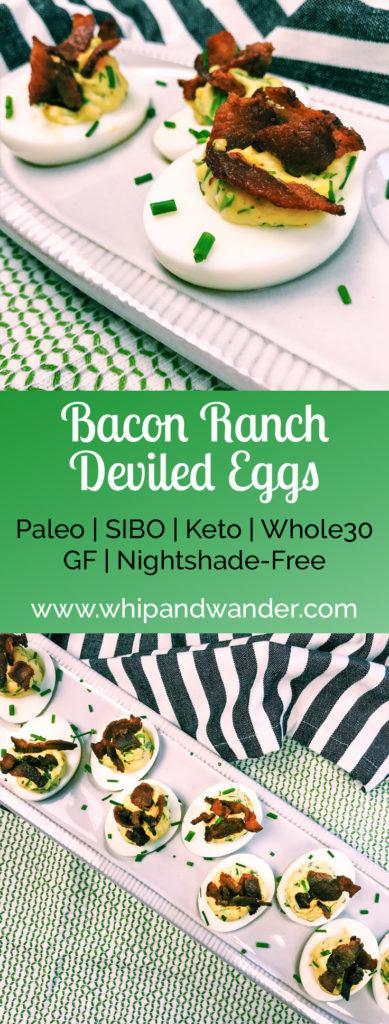 Bacon Ranch Deviled Eggs