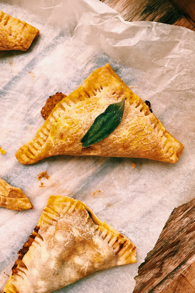 gluten free pumpkin pasties with savor and sweet fillings