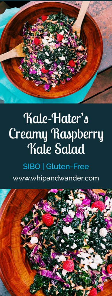 Creamy Raspberry Kale Salad