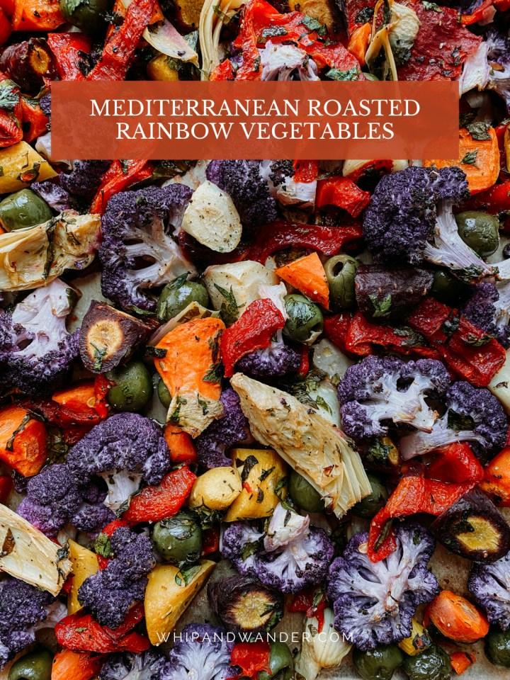 closeup of roasted mediterranean vegetables