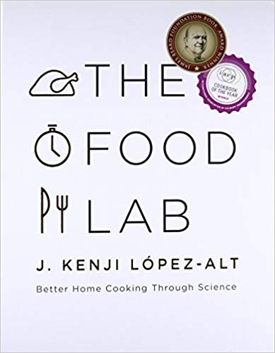 The words The Food Lab with small line drawings on a white background