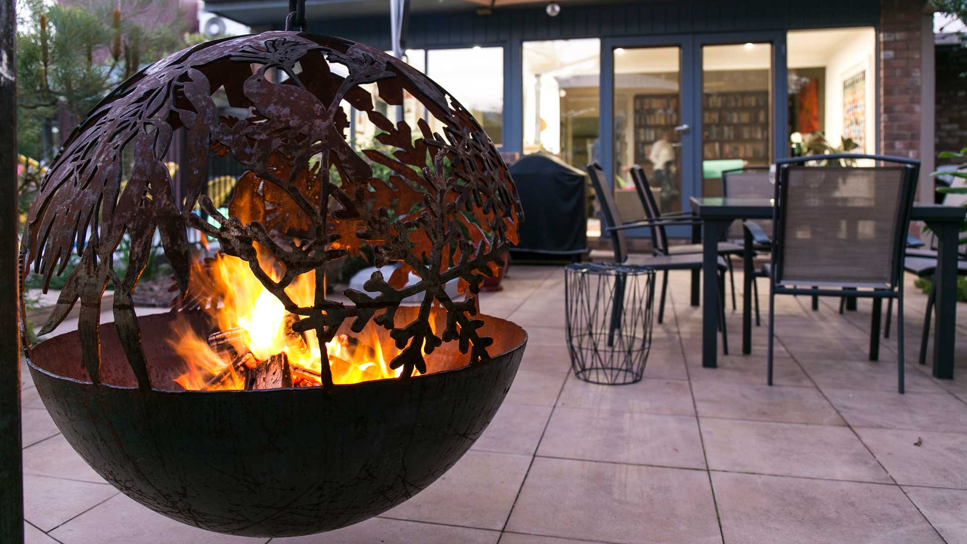 Flora And Fauna Sphere Fire Pit Whipps Designs