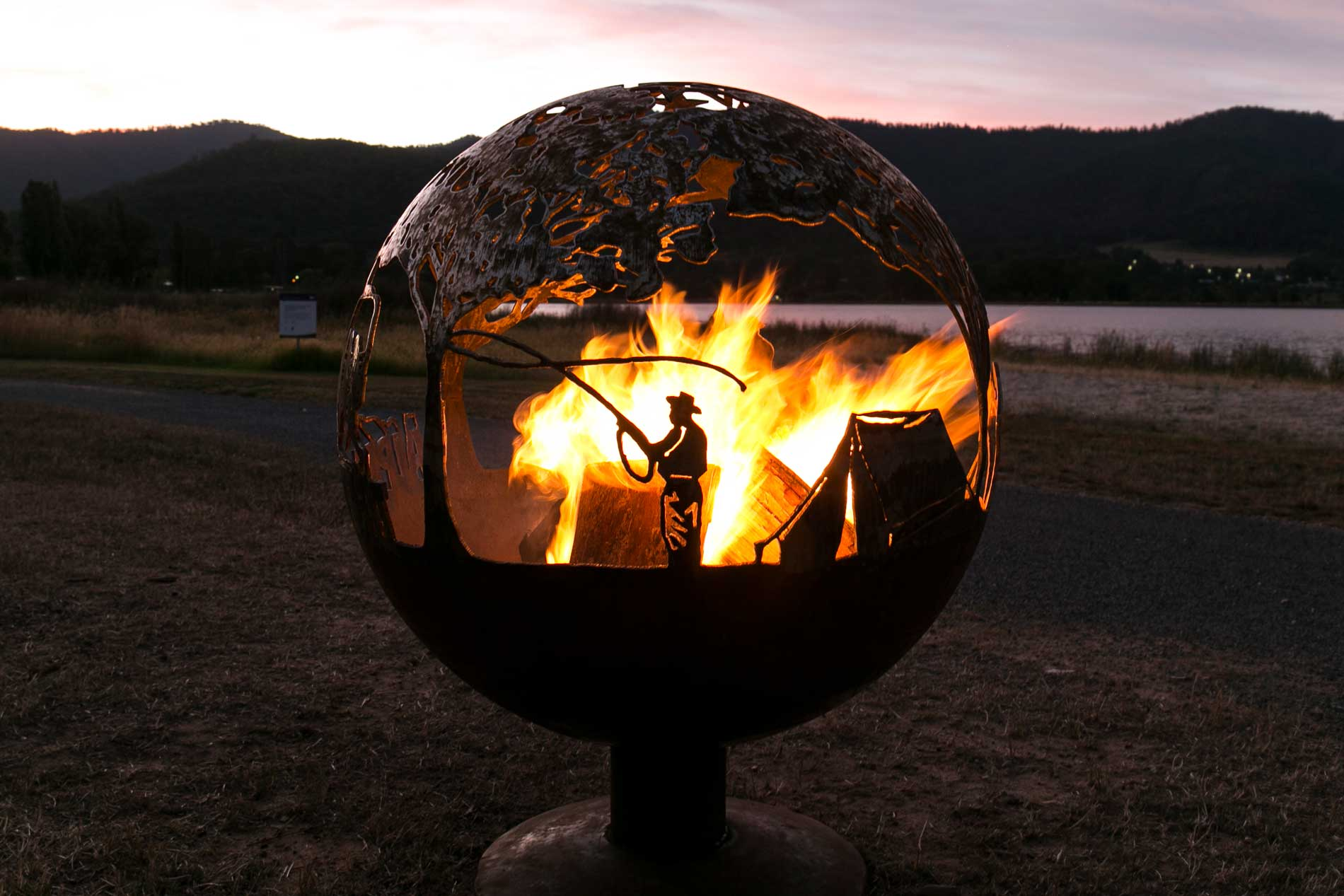 Alpine Retreat Sphere Fire Pit Whipps Designs
