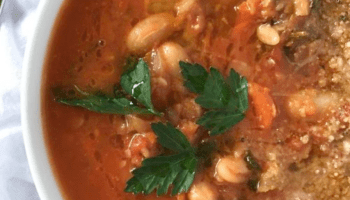 Tuscan-Inspired White Bean Tomato Soup