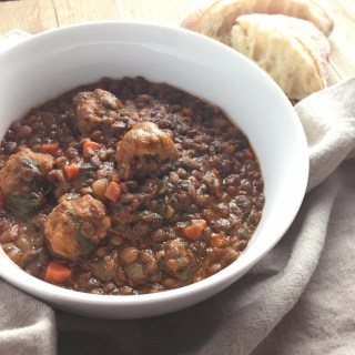 Lentil Soup with Sausage Meatballs