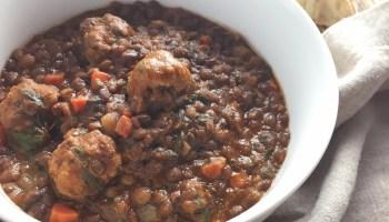 Lentil Soup with Sausage Meatballs
