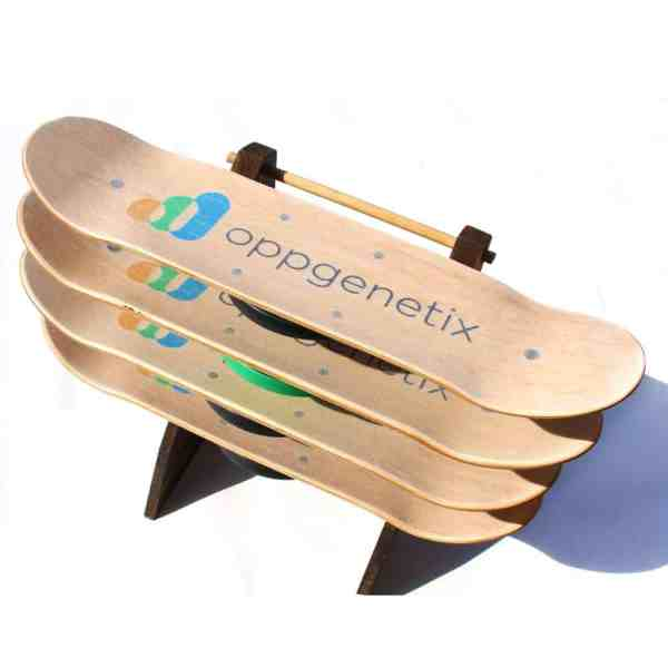 Rack of 4 Custom balance board for Oppgenetix