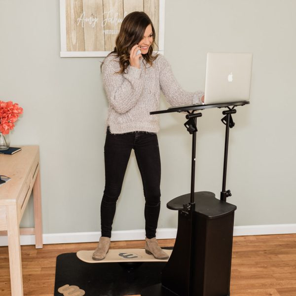 Using a Whirlyboard at a standing desk