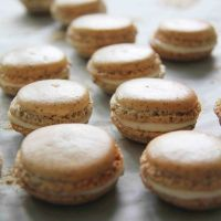 Earl Grey Macarons with Cream Cheese Frosting