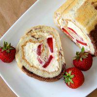 Vanilla & Strawberry Swiss Roll