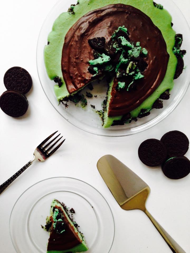 Vegan Grasshopper Oreo Cheesecake   Whisk and Shout