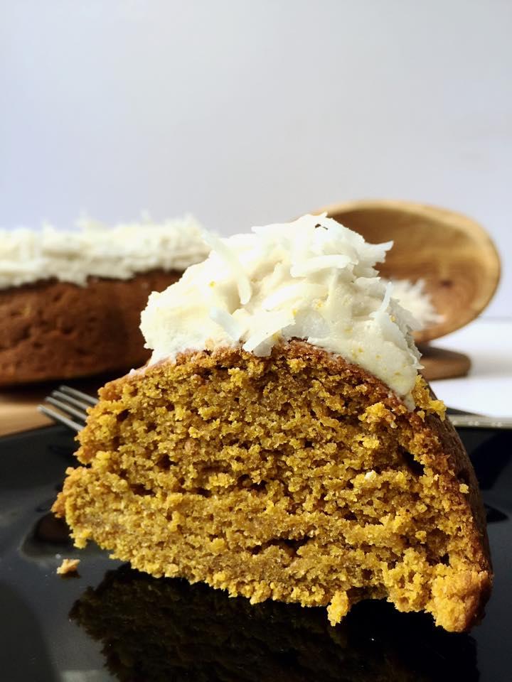 Vegan Pumpkin Coconut Bundt Cake | Whisk and Shout