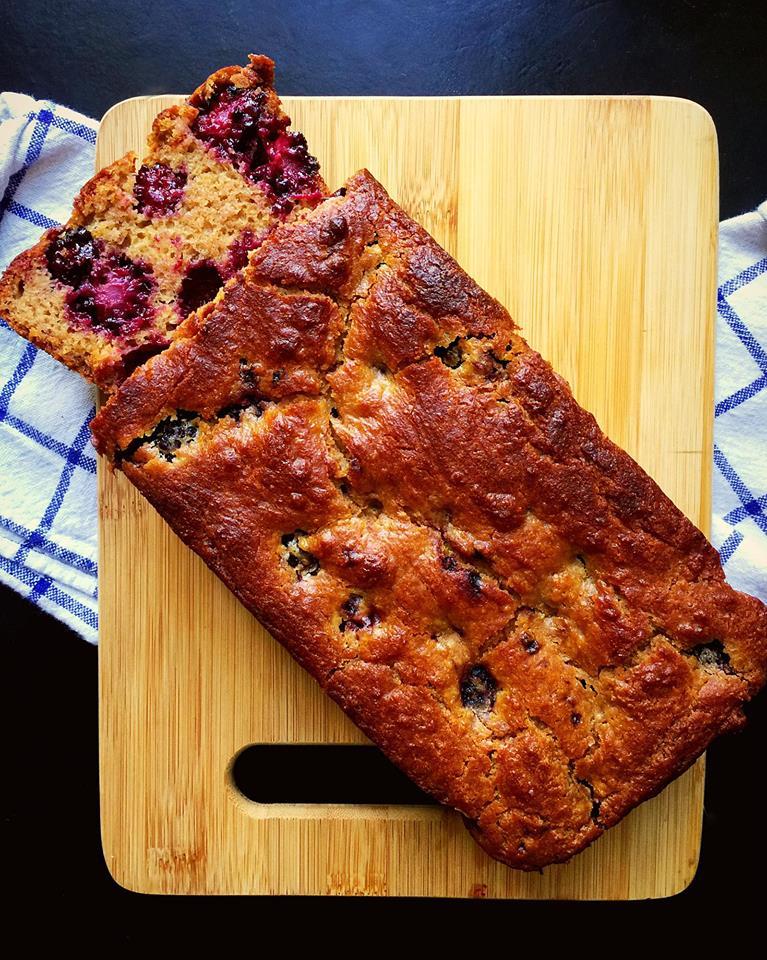 GF Blackberry Greek Yogurt Cake | Whisk and Shout