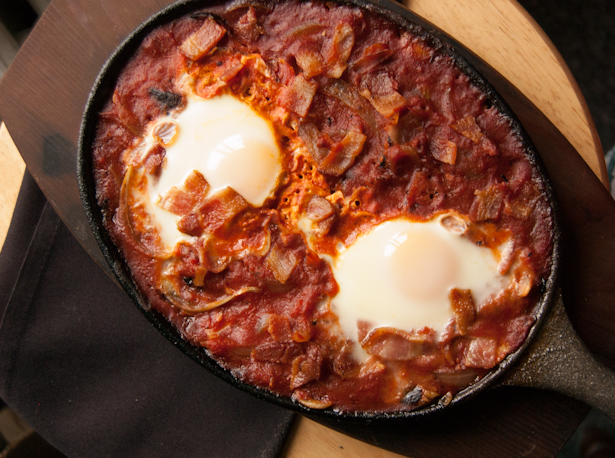 Simple Shakuska with Bacon-9