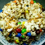 Whiskey Bacon Popcorn Cake