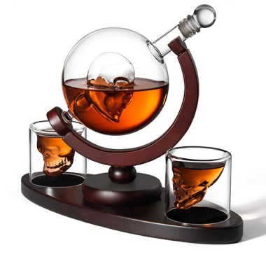 Whiskey Decanter Skull