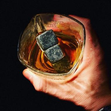Whiskey stenar - Svart natursten - 9st