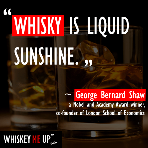 What does someone who's won the Nobel Prize & Academy Award plus co-founded a research university think about whisky?
