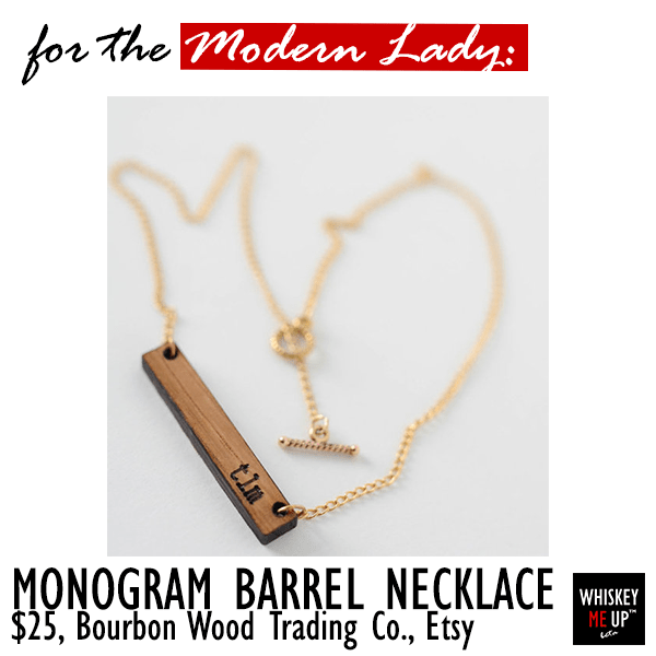 2016 Gift for Whiskey Persona Modern Lady: Monogrammed Necklace