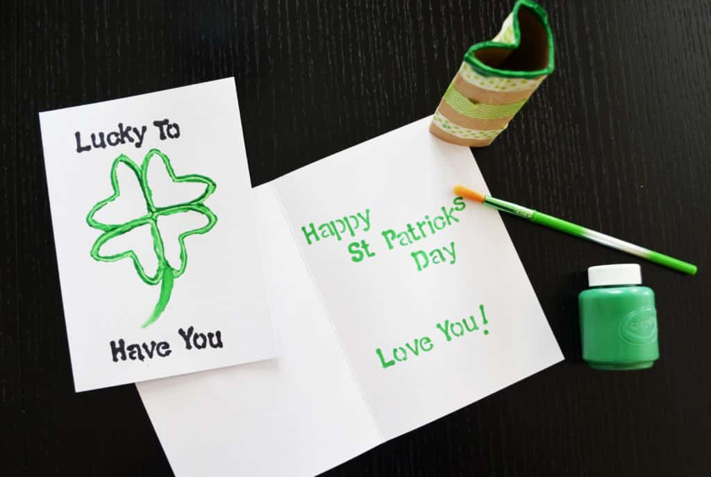 St. Patrick's Day Four Leaf Clover Card