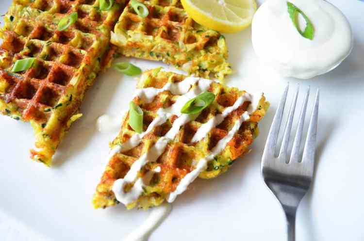 The Best Waffled Zucchini With Lemon Cream Sauce