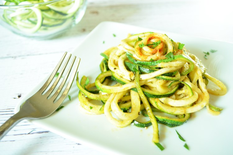 Roasted Garlic Parmesan Zoodles