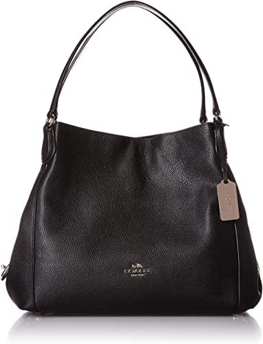 COACH Womens Pebbled Leather Edie 31 Shoulder Bag