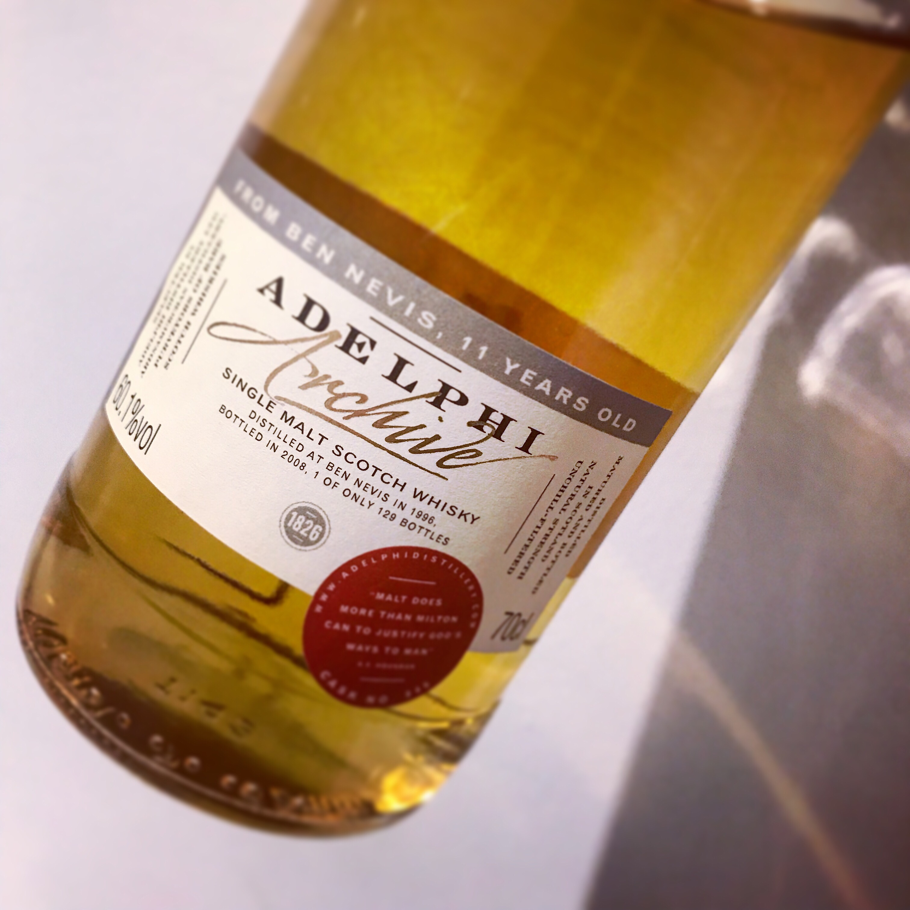 Whisky Review: Adelphi Archive Ben Nevis 1996 11 Years Old