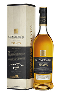Glenmorangie Ealanta Single Malt Scotch Whisky. Image courtesy Glenmorangie.