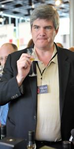 Mark tasting whiskies during Whisky Live Paris