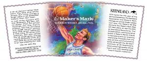 Maker's Mark 2013 Keeneland Bottle label