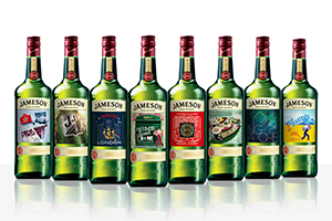 The Jameson City Editions Series. Image courtesy Irish Distillers.