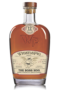 "WhistlePig Rye's ""The Boss Hog"" single barrel Rye whiskey. Image courtesy WhistlePig Farm."