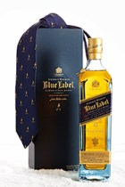 The Brooks Brothers Limited Edition Johnnie Walker Blue Label & Striding Man tie. Image courtesy Diageo.