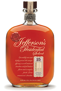 Jefferson's Presidential Select 25 Year Old Bourbon. Image courtesy McLain & Kyne.