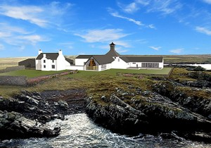 A 3D rendering of the Gartbreck Distillery to be built on Islay. Image courtesy Gartbreck Distillery.