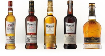 The new bottles for the Dewar's range of blended Scotch whiskies. Image courtesy Dewar's/Bacardi.